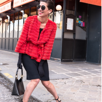 Picture of the blogger marquisparis wearing Varadi shoes