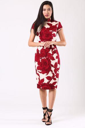 Varadi - Asian model wearing Helena shoe model